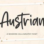 Austrian Modern Calligraphy Font1