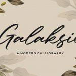 Galaksie Modern Calligraphy Font1