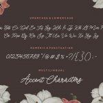 Luckangle Monoline Script Font6