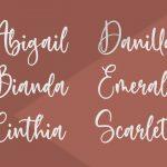 Sweetie Autumn Beautiful Calligraphy Font3
