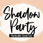 Shadow Party Handwritten Script Font1