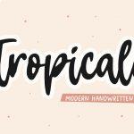 Tropicale Modern Handwritten Font1